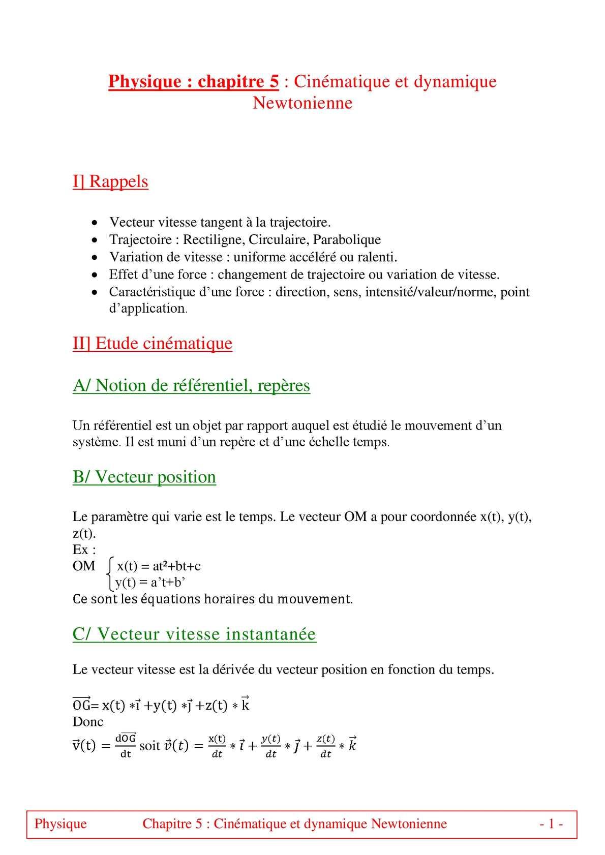 TS - PHYSIQUE/CHIMIE – Chapitre 5 bis | JéSky.fr