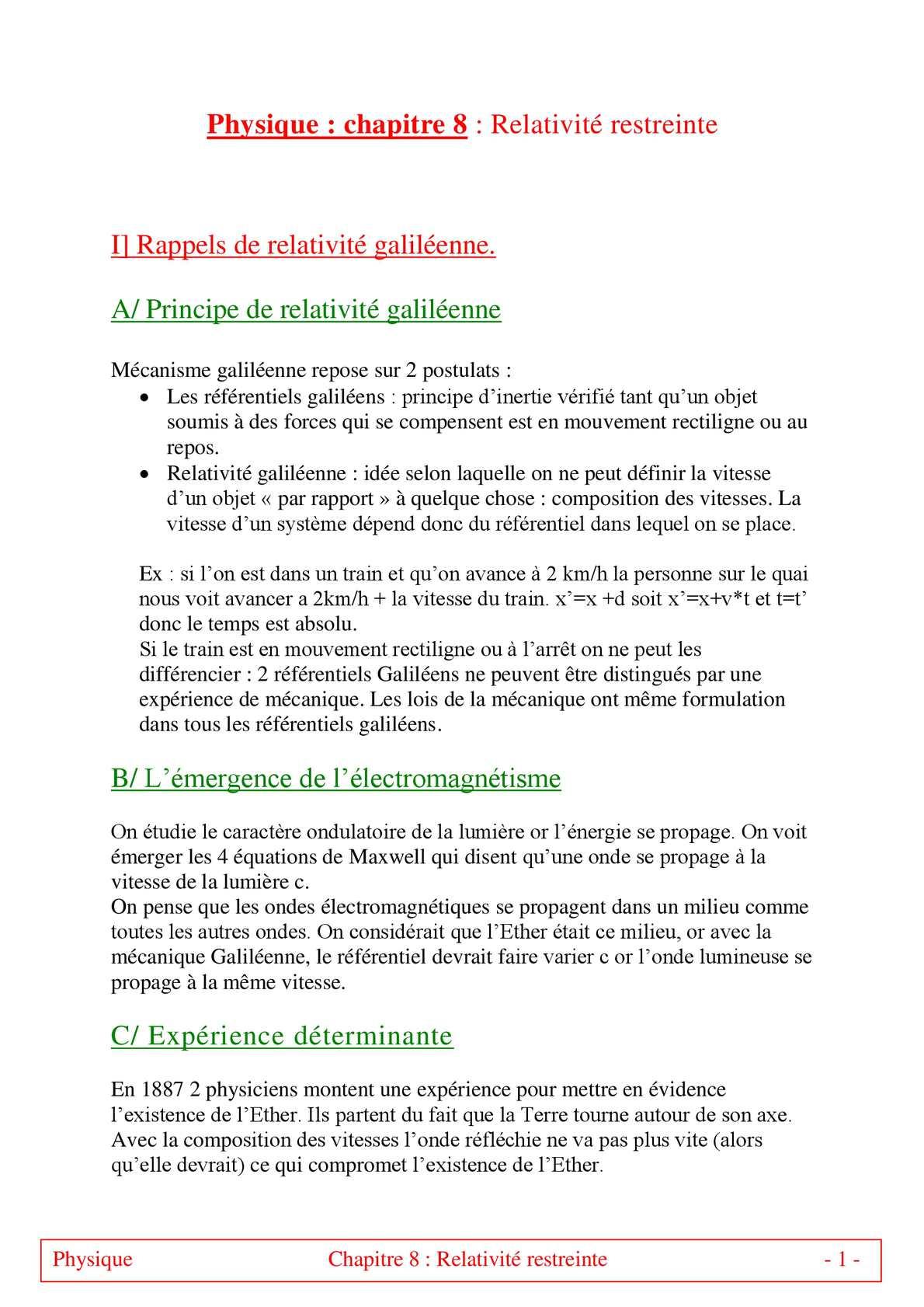 TS - PHYSIQUE/CHIMIE – Chapitre 8 bis | JéSky.fr