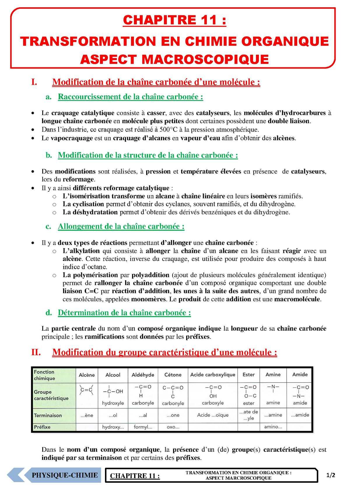 TS - PHYSIQUE/CHIMIE – Chapitre 11 | JéSky.fr