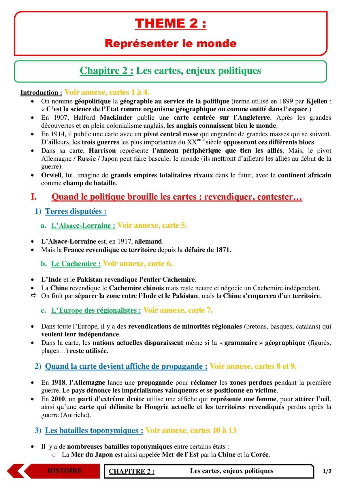 TS - HISTOIRE-GEOGRAPHIE - Chapitre 4 | JéSky.fr