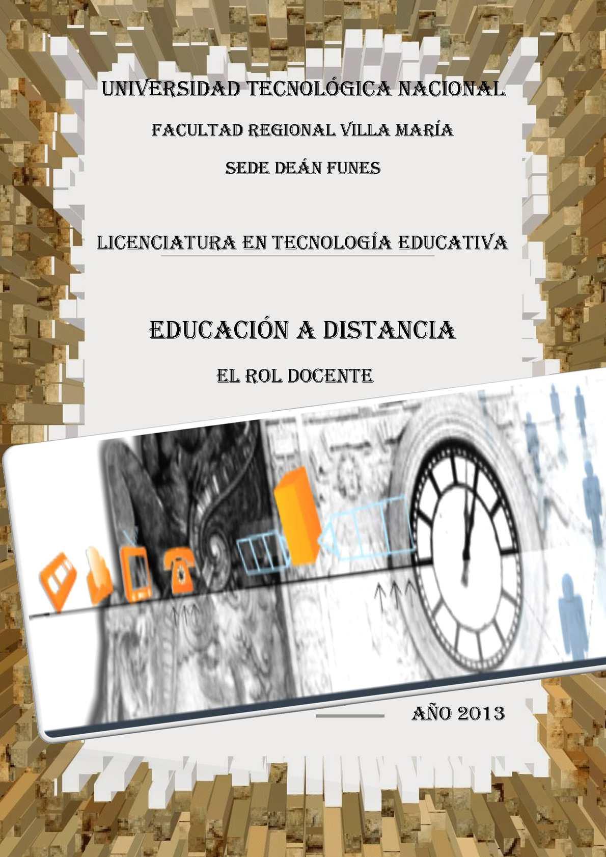 El Rol Docente en la Educación a Distancia.
