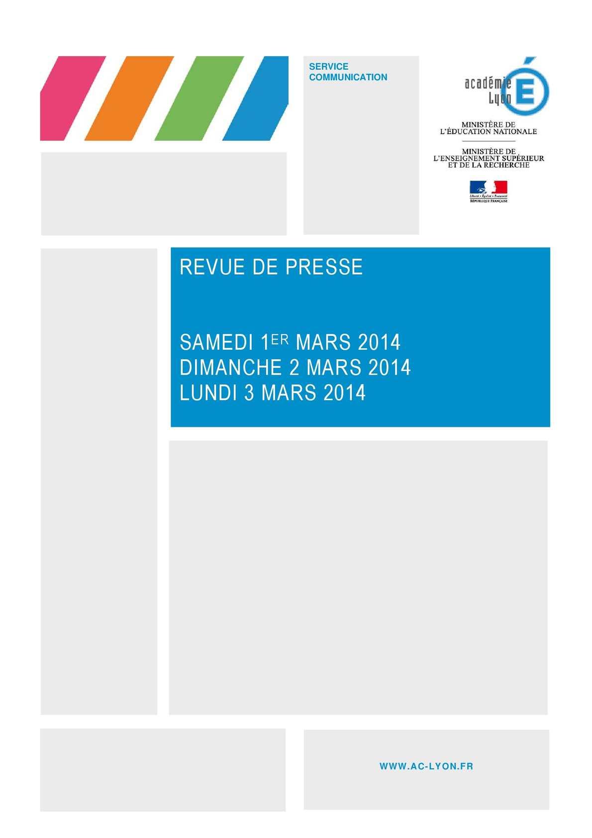 Calam o revue de presse 3 mars 2014 for Revue de www houseplans com