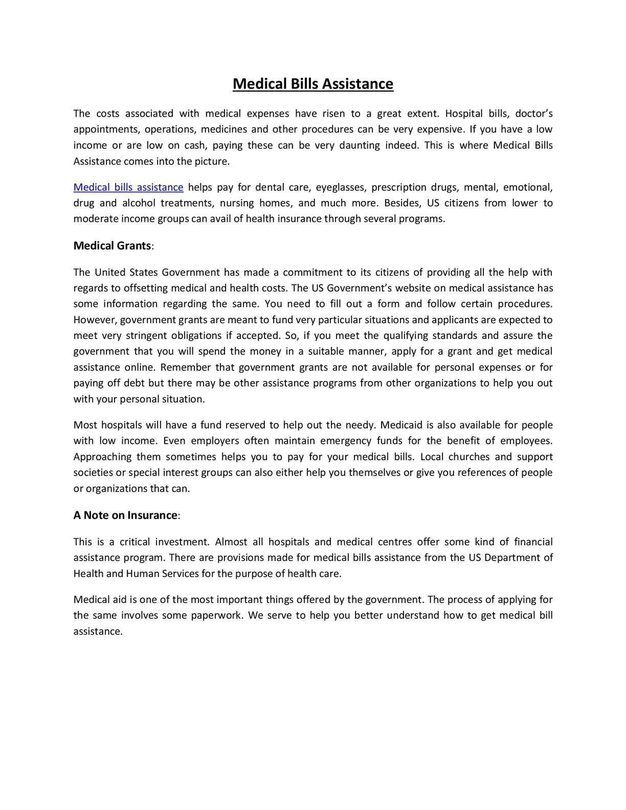 calaméo - governmentgrants - medical bills assistance