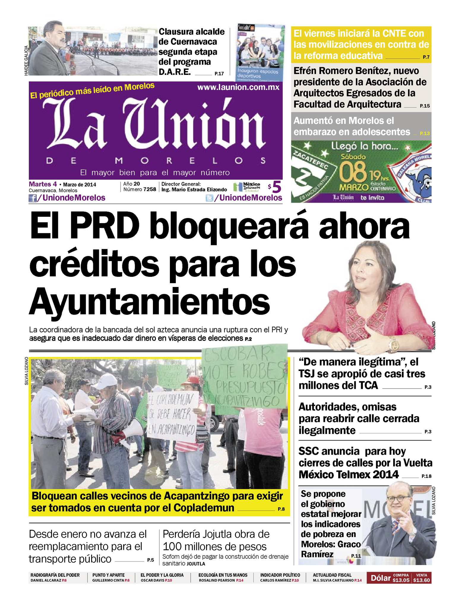 Calaméo - La Unión de Morelos 04 Marzo 2014