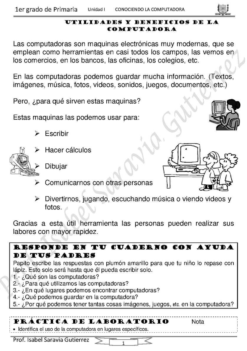 Temas para primero y segundo de primaria
