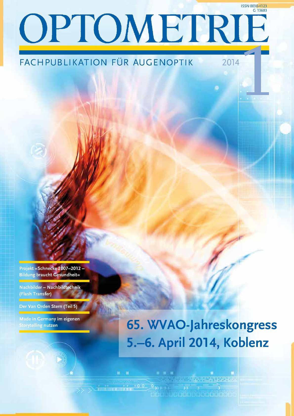 Calaméo - Fachzeitschrift OPTOMETRIE 1-2014