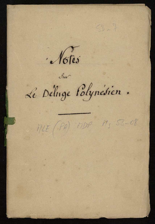 Notes sur le déluge polynésien