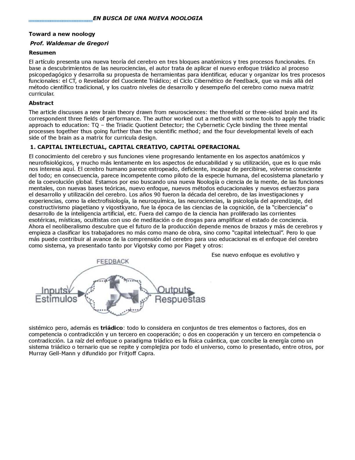 ESTILOS DE APRENDIZAJE SEGUN WALDEMAR DE GREGORI