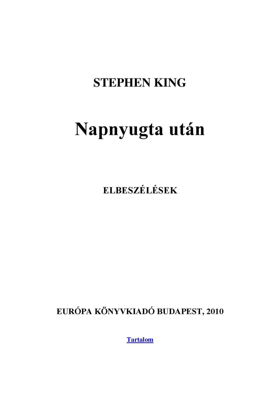 Calaméo - Stephen King - Napnyugta után 889fdc068e