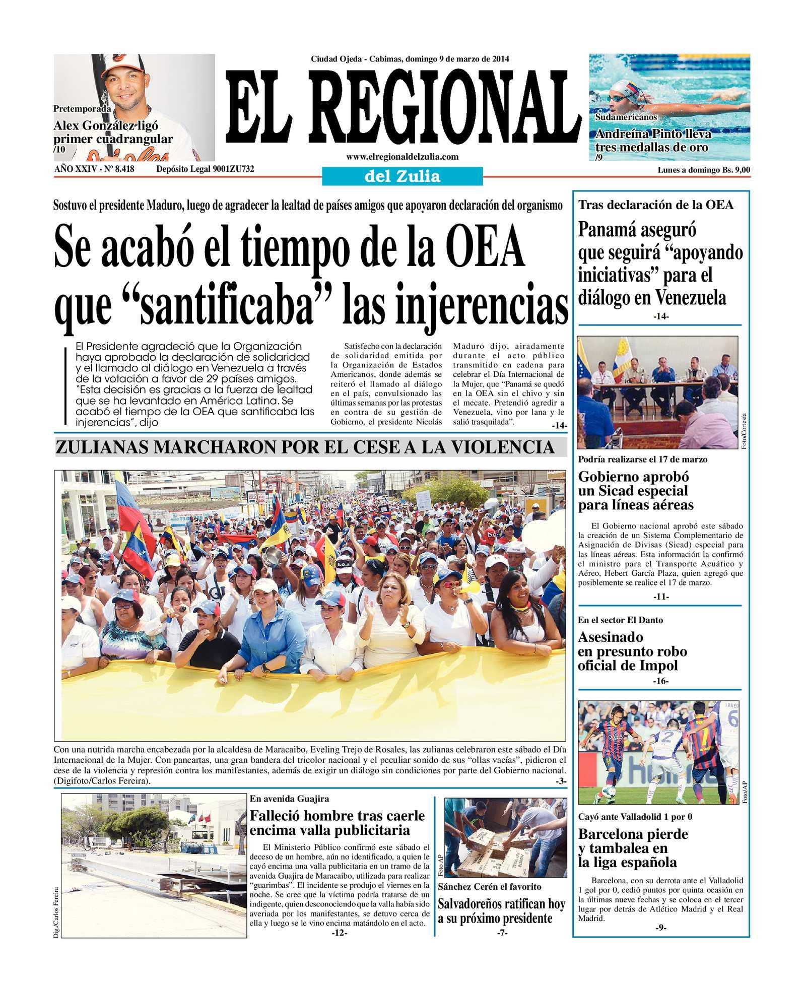 Calaméo - El Regional del Zulia 09-03-2014