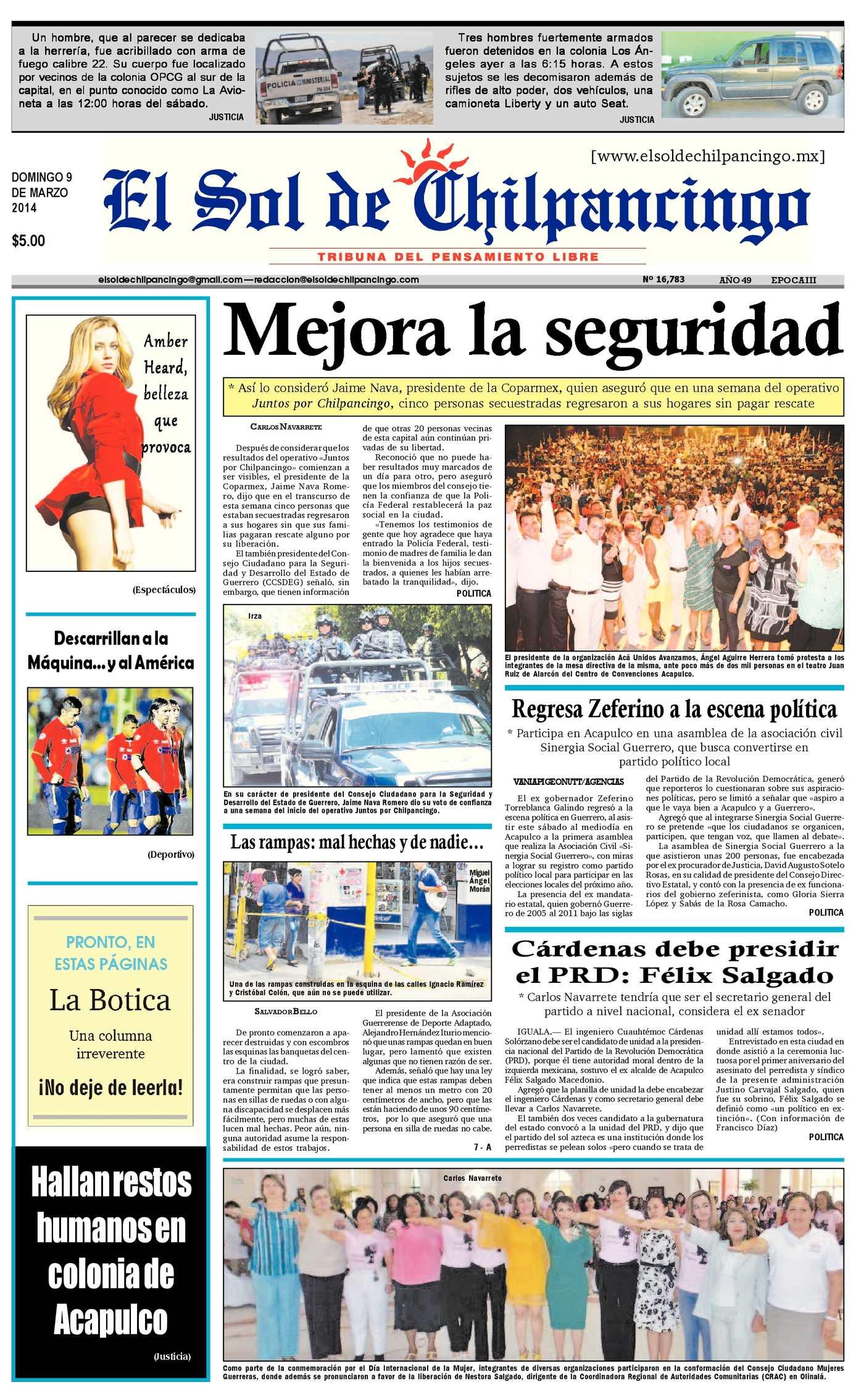 Calaméo - El Sol de Chilpancingo 9 Marzo 2014