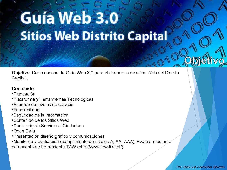 Calaméo - Resumen Guía Web 3.0 para Sitios Web del Distrito Capital