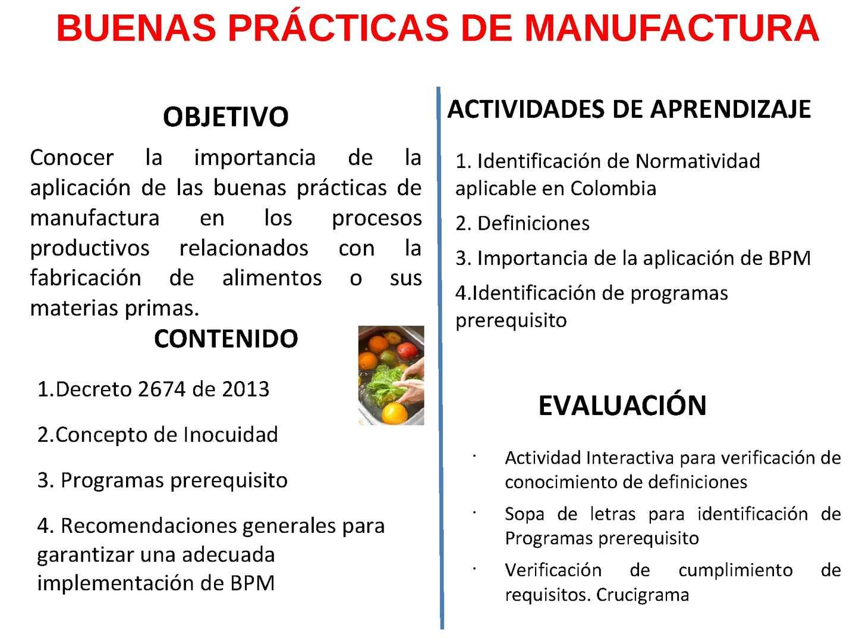 Calam o buenas pr cticas de manufactura for Manual de buenas practicas de higiene y manipulacion de alimentos