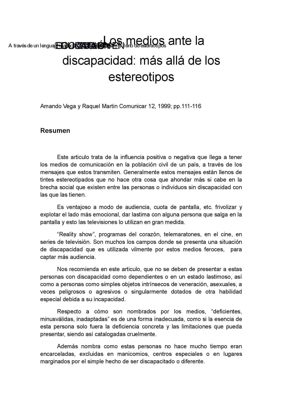 Calaméo - Resumen, opinion personal y mapa conceptual del articulo