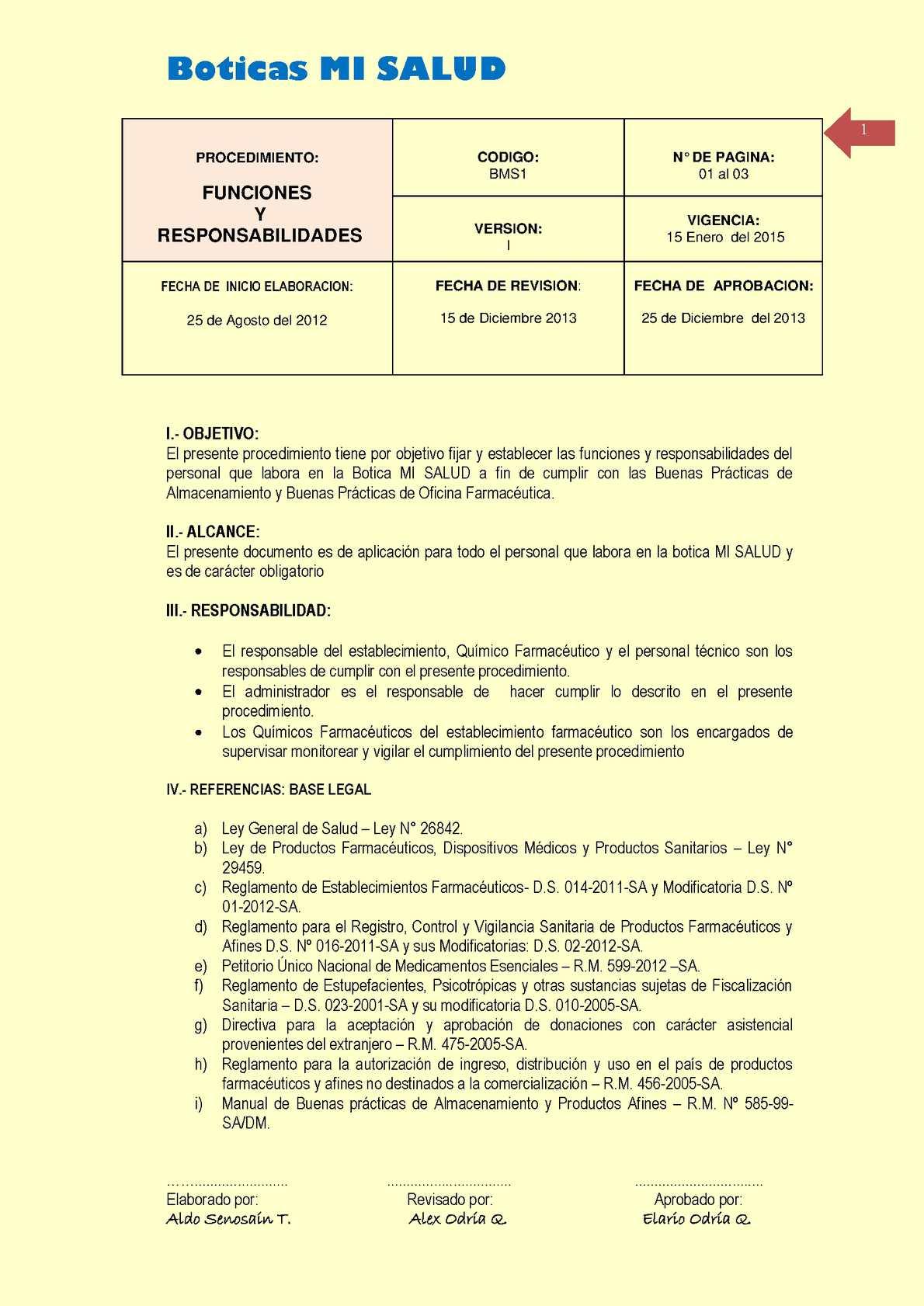 Calaméo - Modelo de formato POEs Farmacias - DENNIS SENOSAIN TIMANA