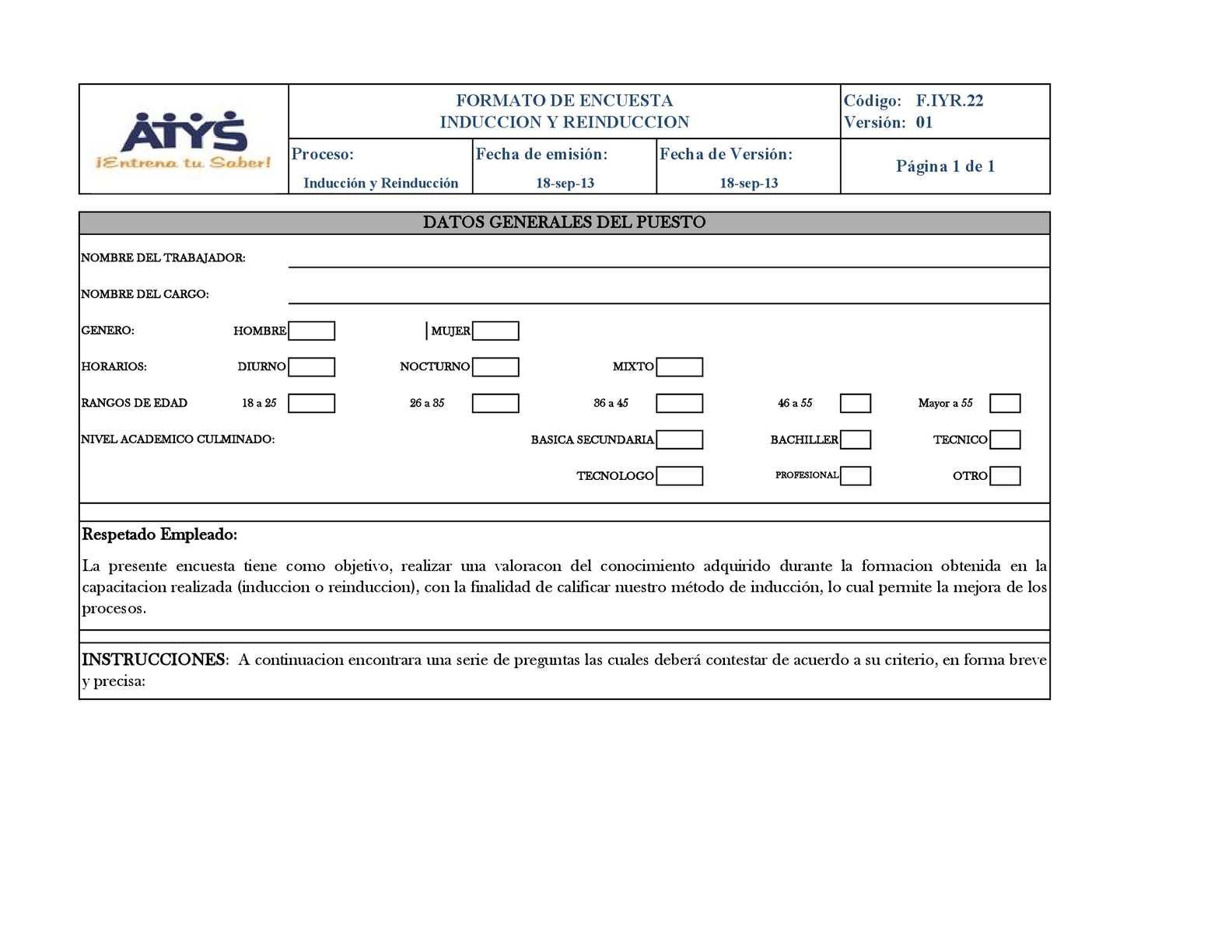 calaméo f iyr 22 formato encuesta induccion y reinduccion