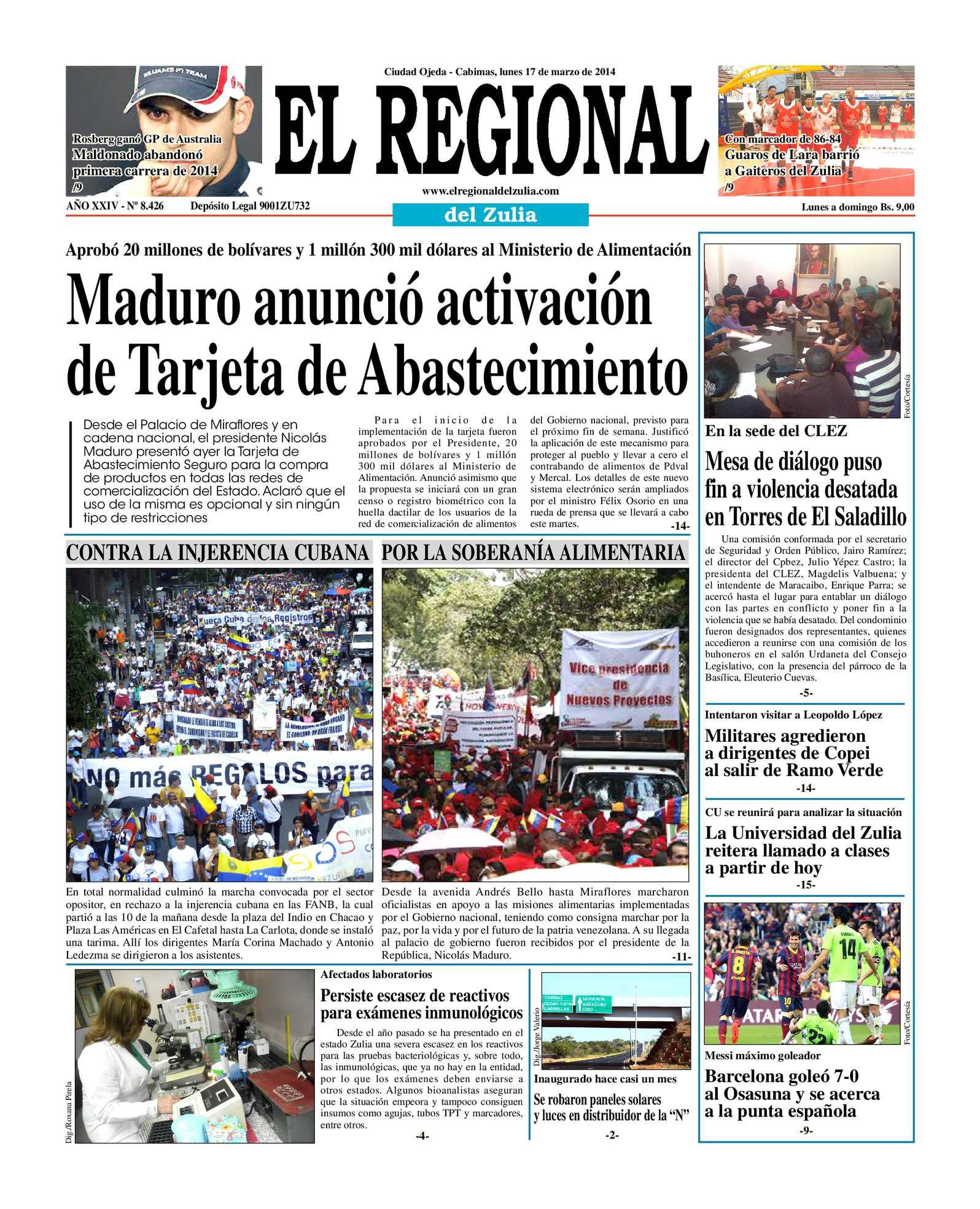 Calaméo - El Regional de Zulia 17-03-2014