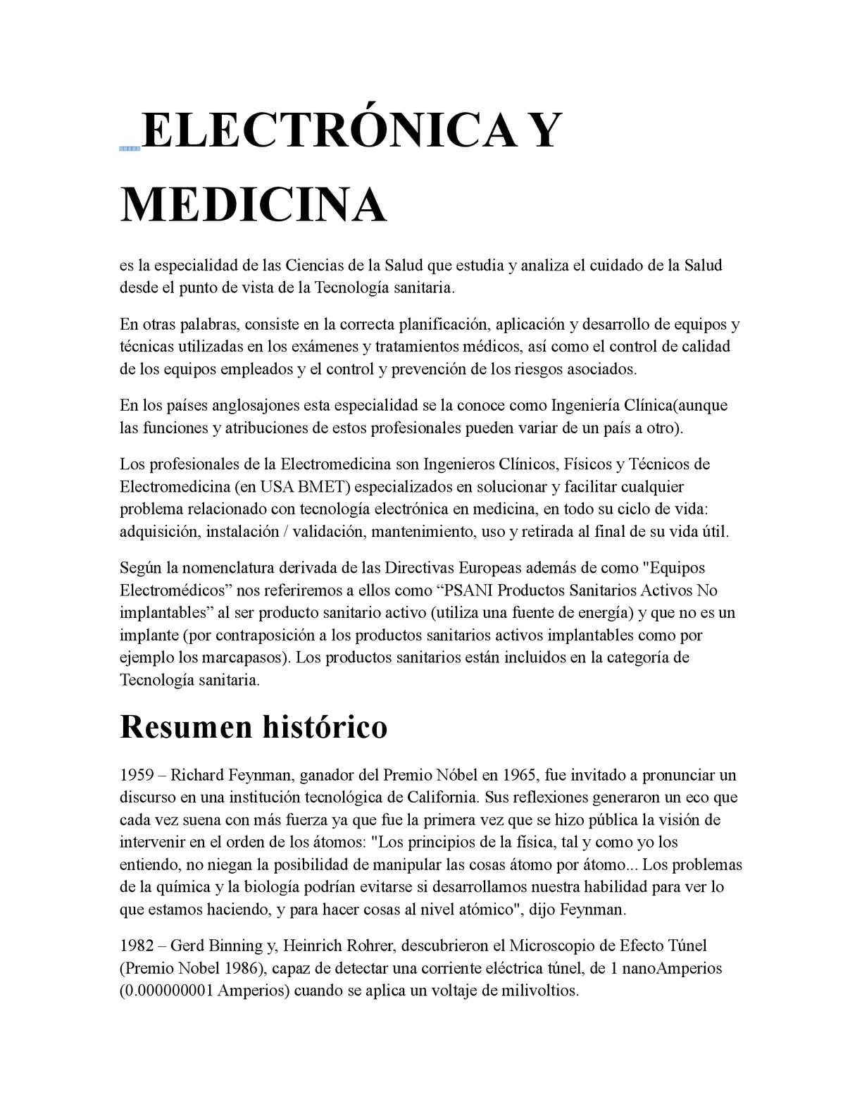 Calaméo - ELECTRÓNICA Y MEDICINA