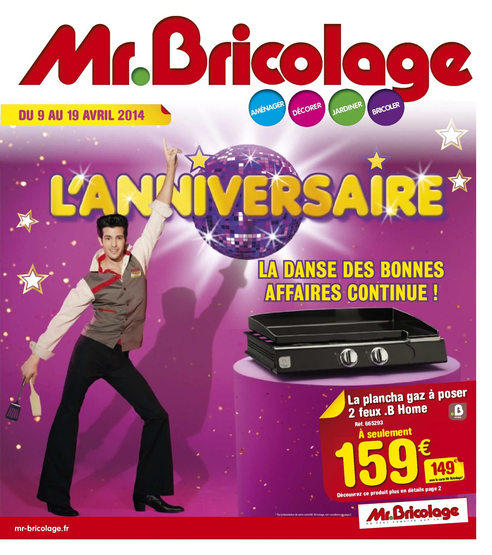 calam o mr bricolage catalogue anniversaire 2 24 pages. Black Bedroom Furniture Sets. Home Design Ideas