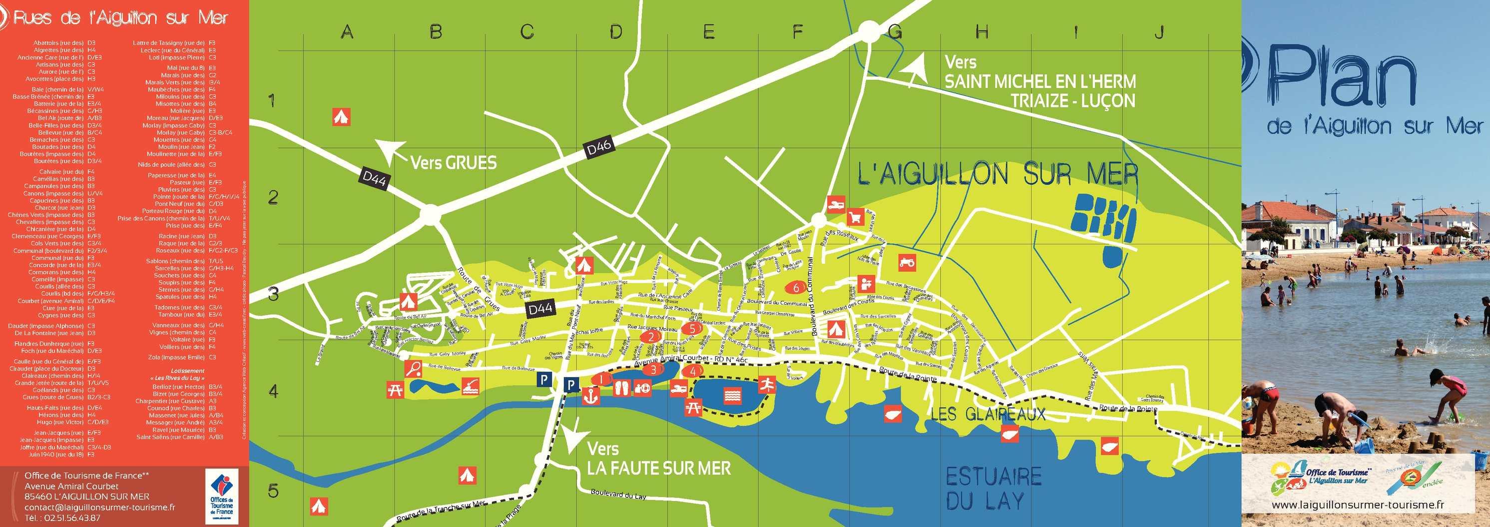Calam o plan de l 39 aiguillon sur mer vend e 2014 - Office de tourisme de l aiguillon sur mer ...