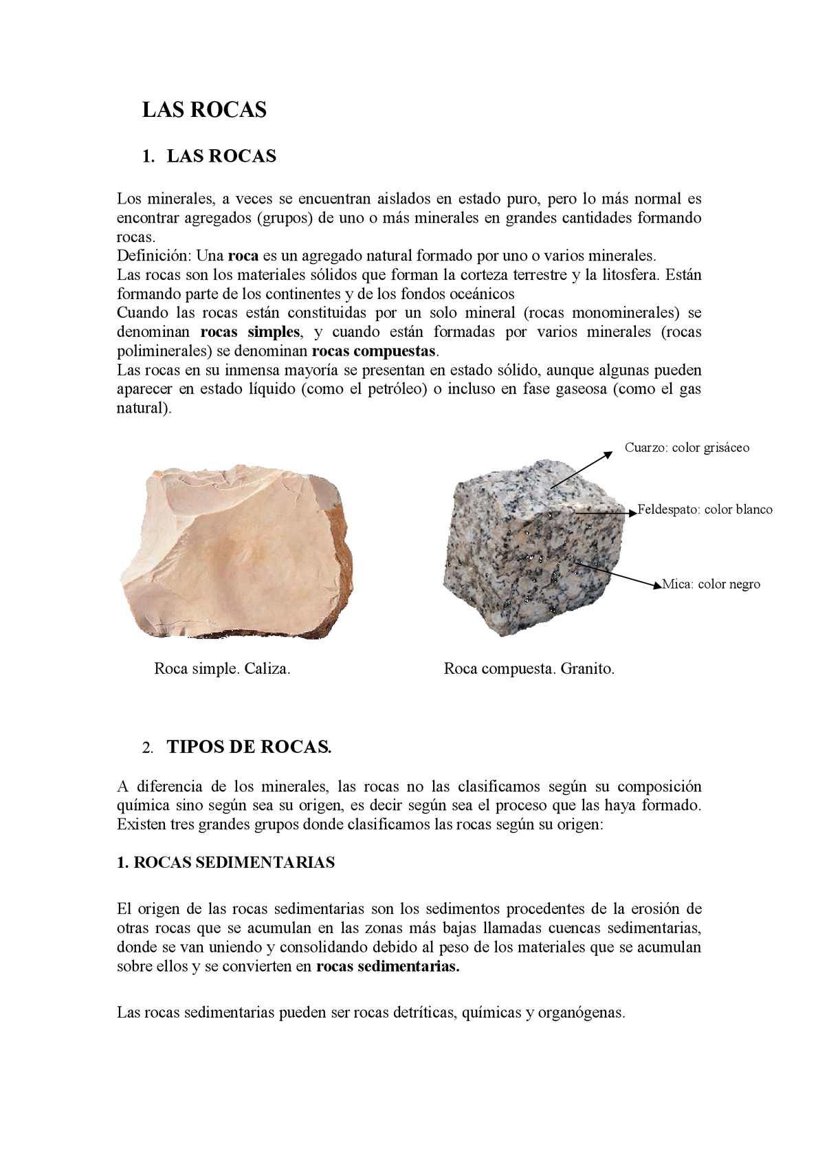 Calam o las rocas for Roca definicion