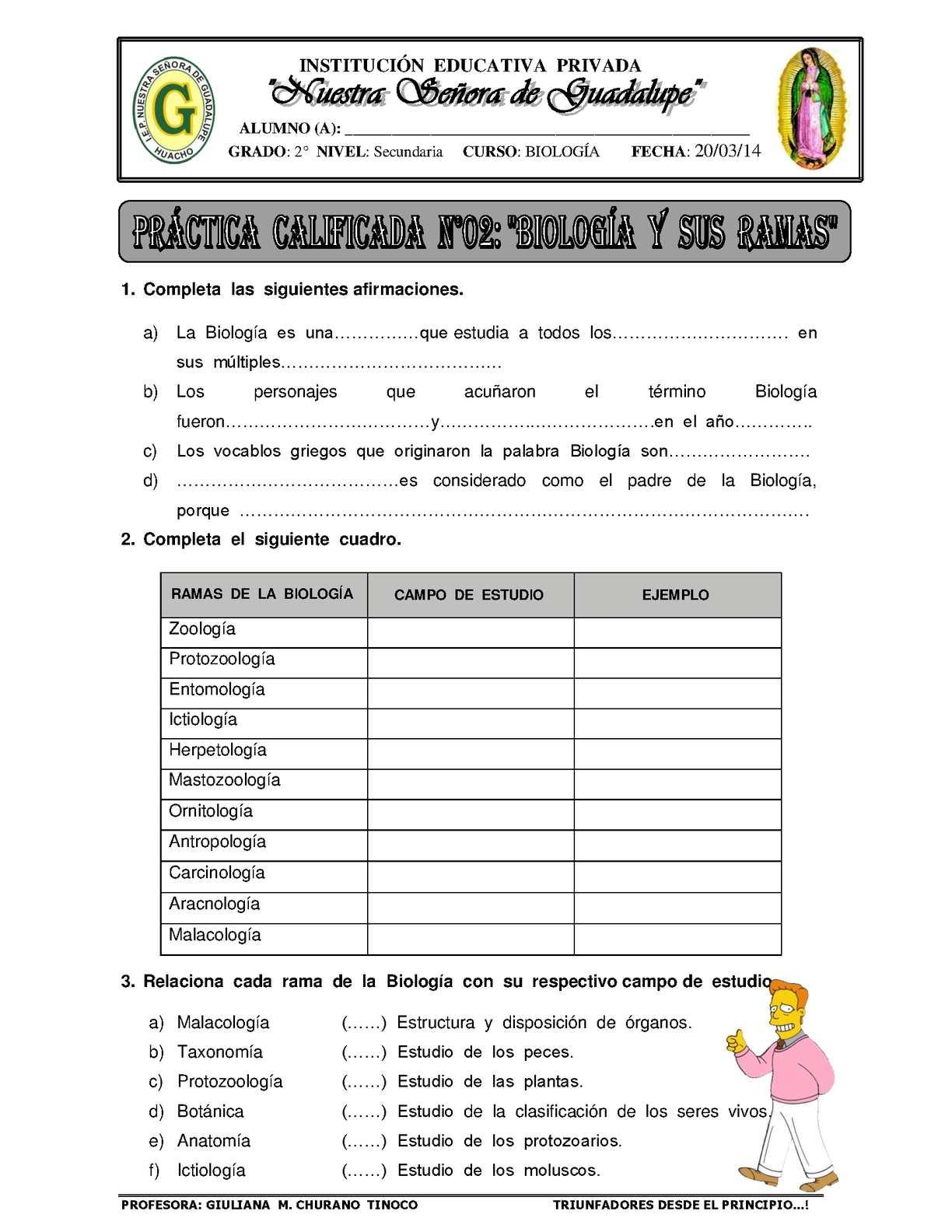 Calaméo - GUÍA I - BIOLOGÍA Y SUS RAMAS