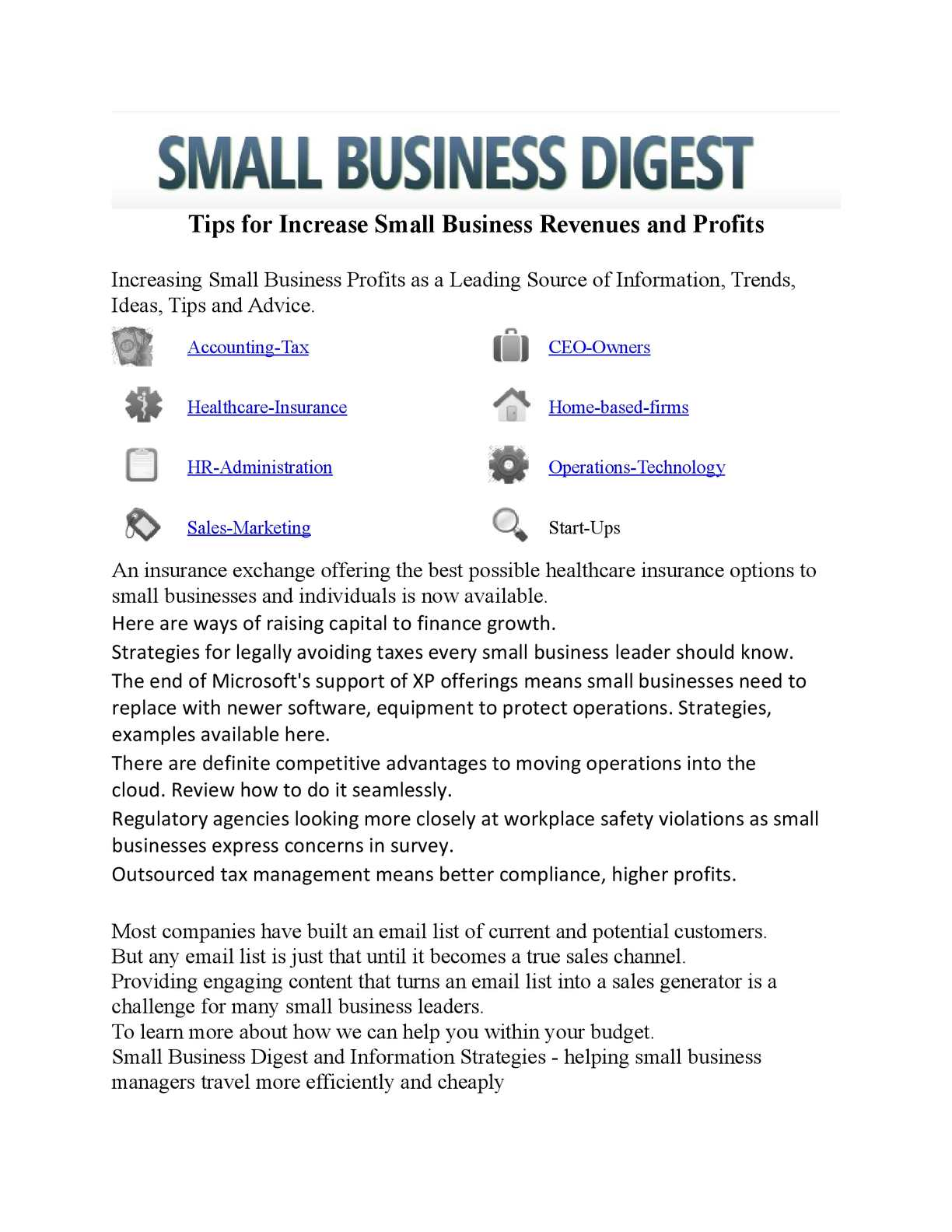 Calaméo - Tips for Increase Small Business Revenues and Profits