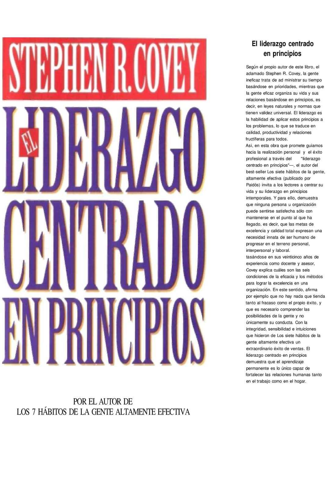 Calaméo - Covey Stephen R - El Liderazgo Centrado En Principios