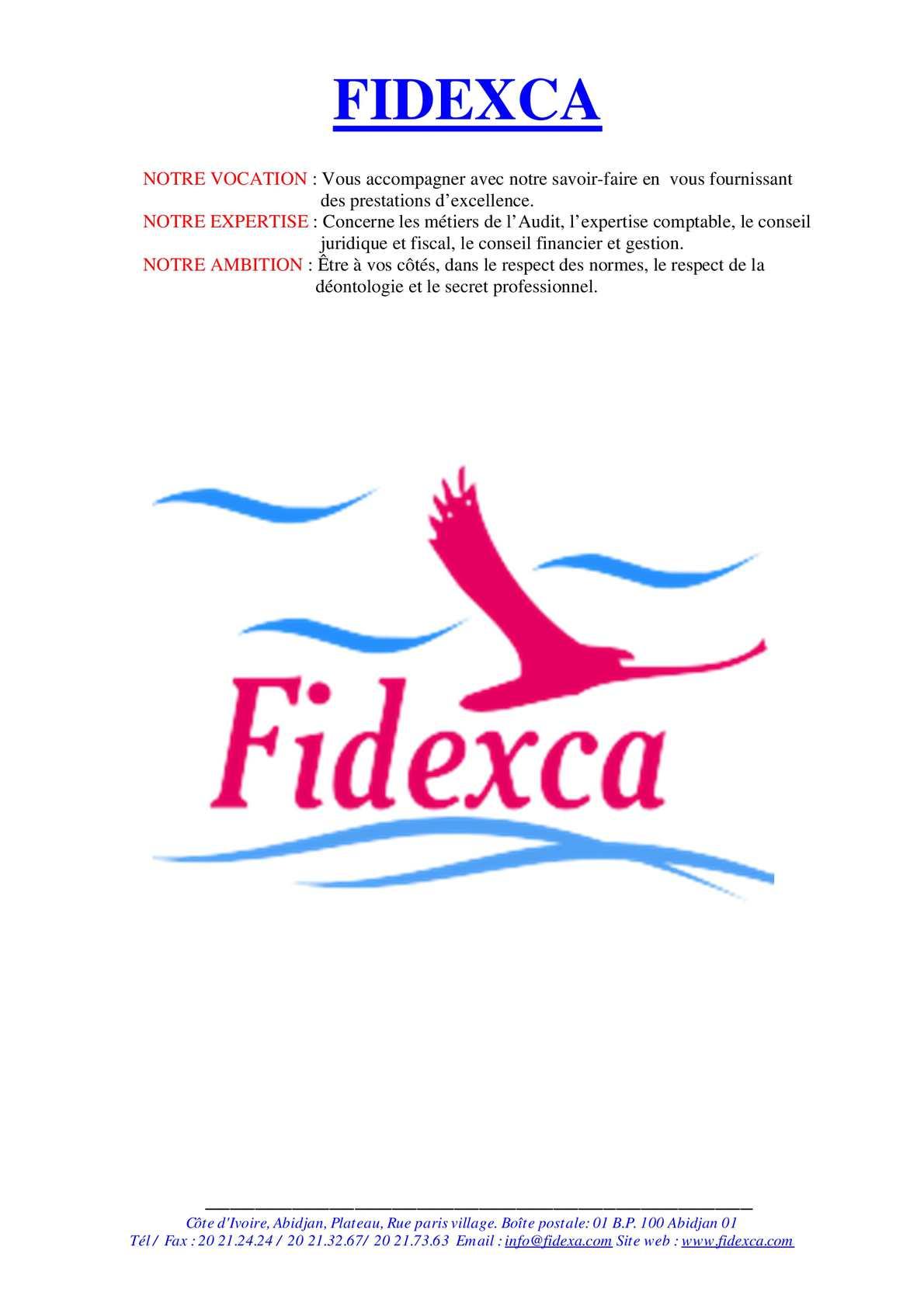 Calameo Presentation Du Cabinet Fidexca