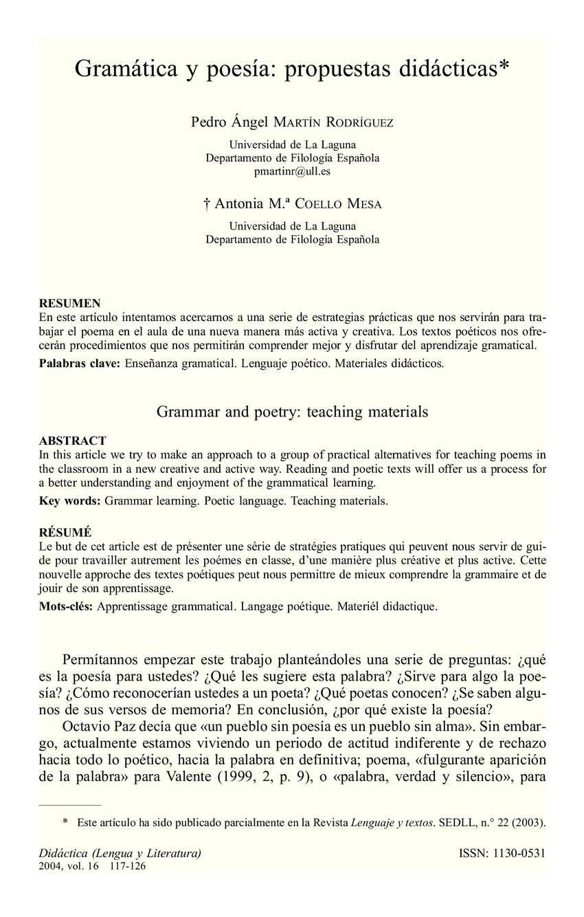 Calaméo - Gramática y poesía propuestas didácticas