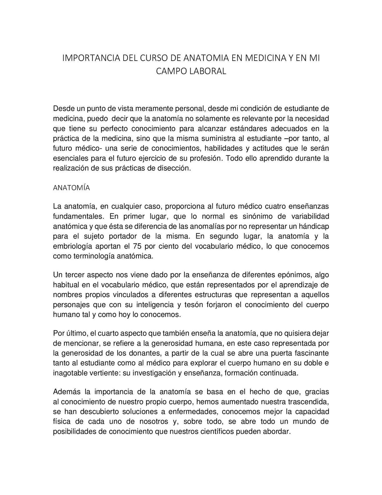 Calaméo - IMPORTANCIA DEL CURSO DE ANATOMIA