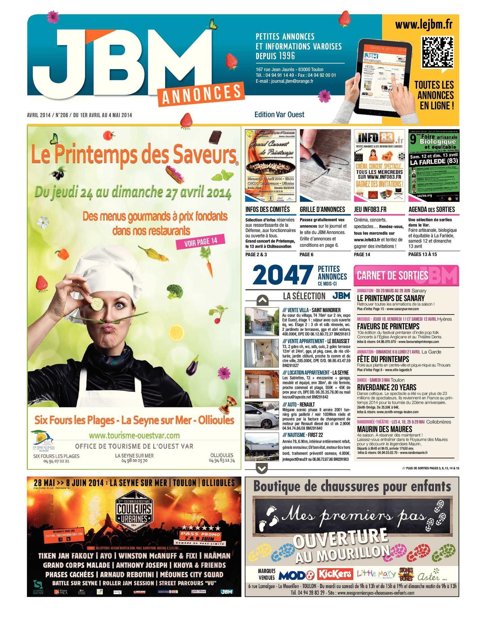 Calaméo Journal JBM Annonces n°206 Avril 2014