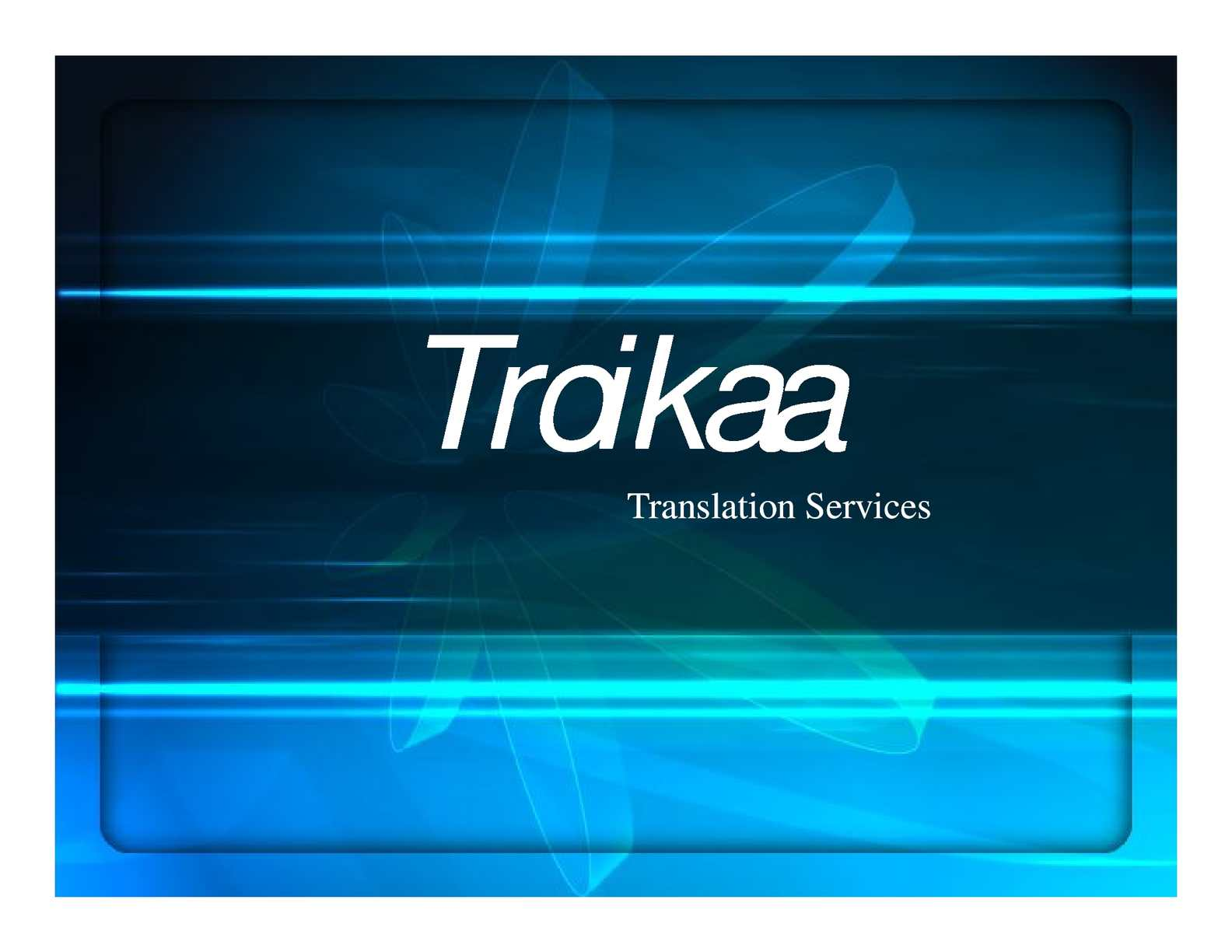 Troikaa Translation Services
