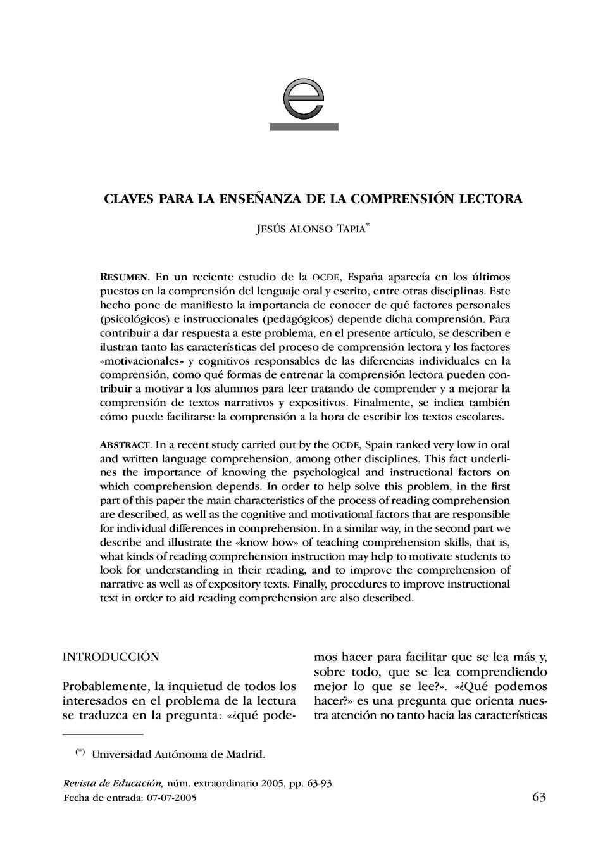 Calaméo - Claves para la Enseñanza de la Comprensión Lectora_Jesús ...