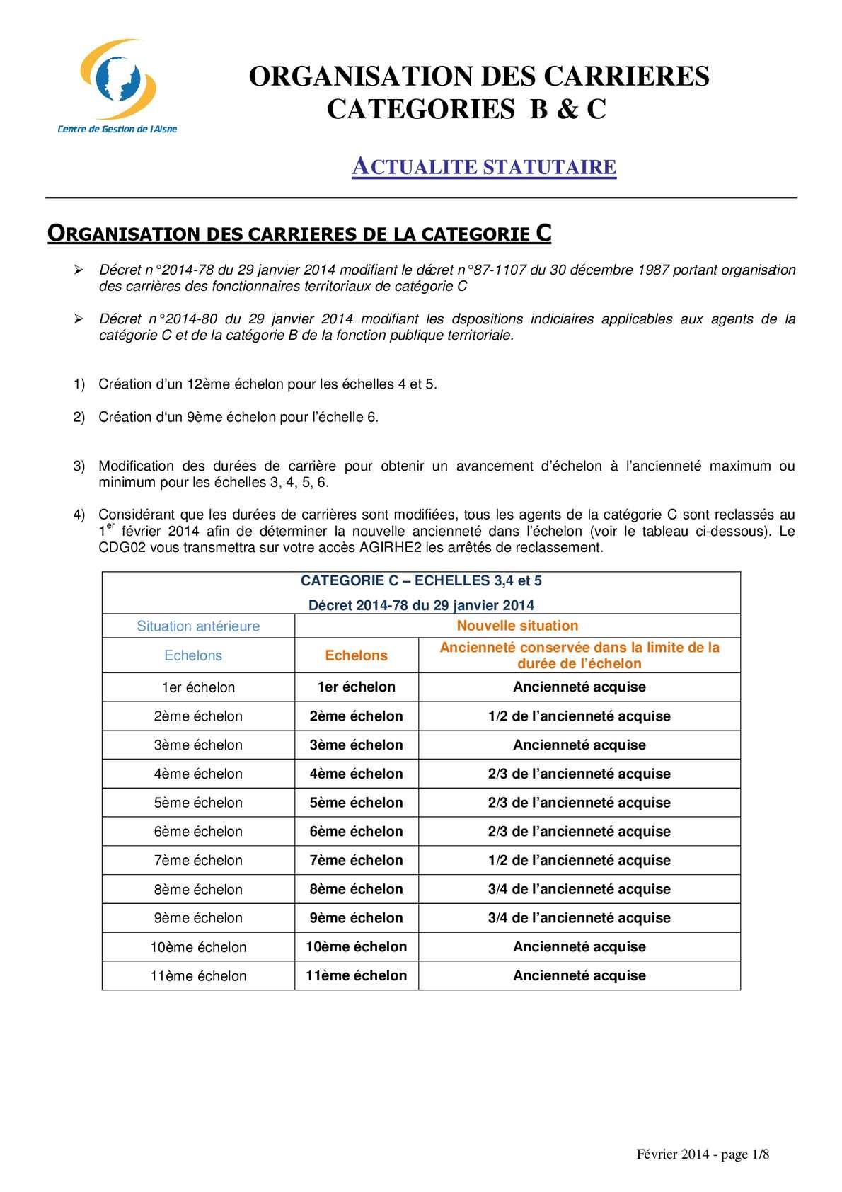 Calam o gayraud dominique cdg 02 cat c cat b - Grille echelon categorie c ...