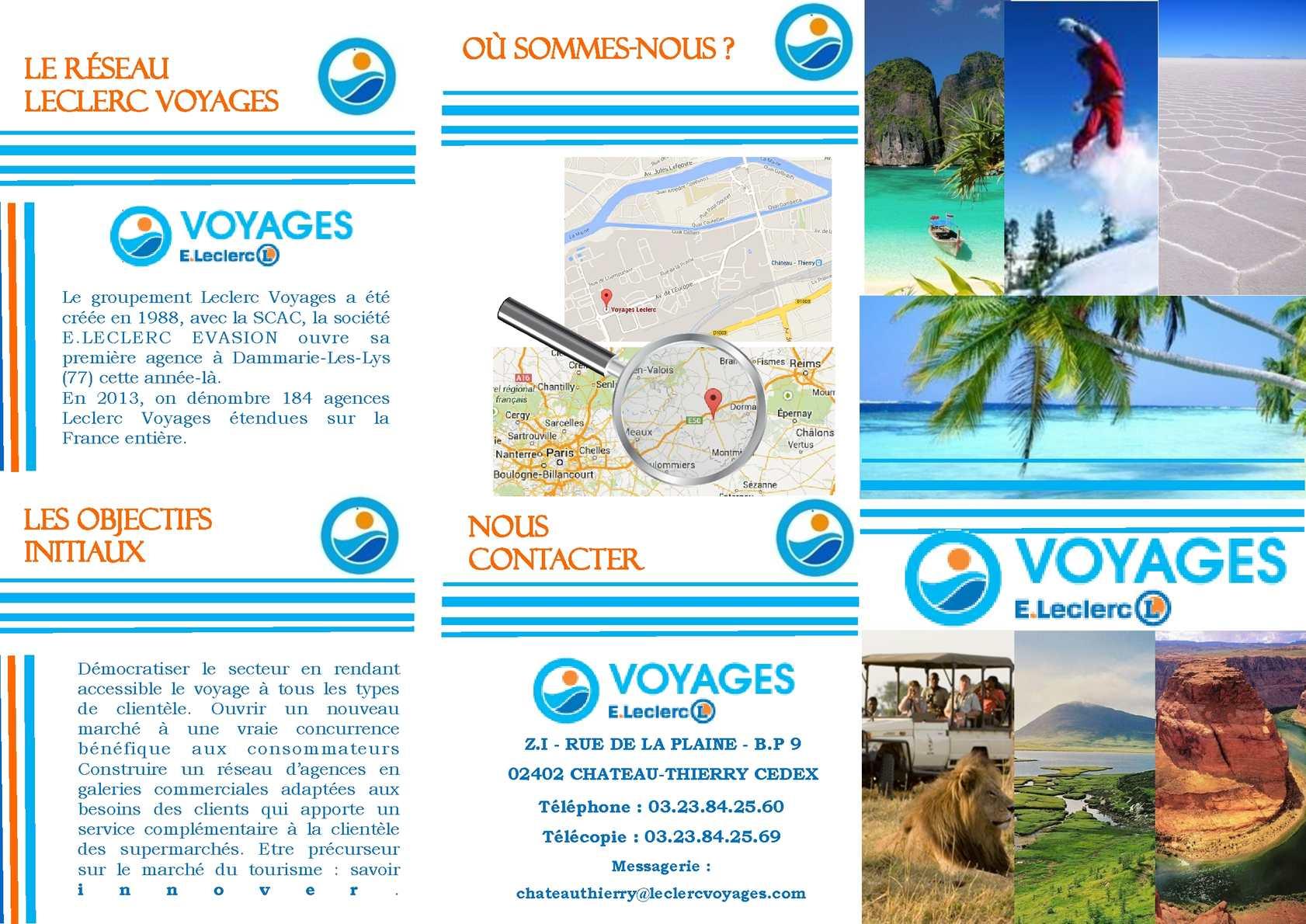 Calam o flyer leclerc voyages for Leclerc brochure