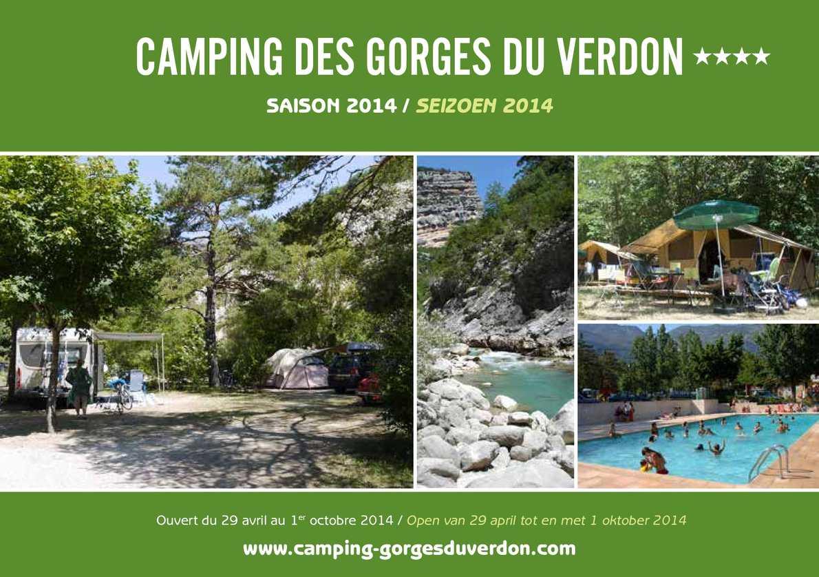 Calam o camping des gorges du verdon fr nl for Camping verdon avec piscine