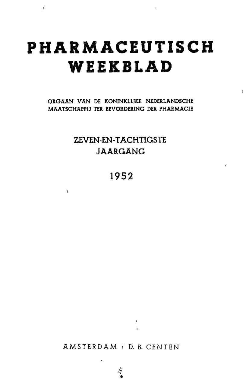 Calaméo 1952 Jaargang 87