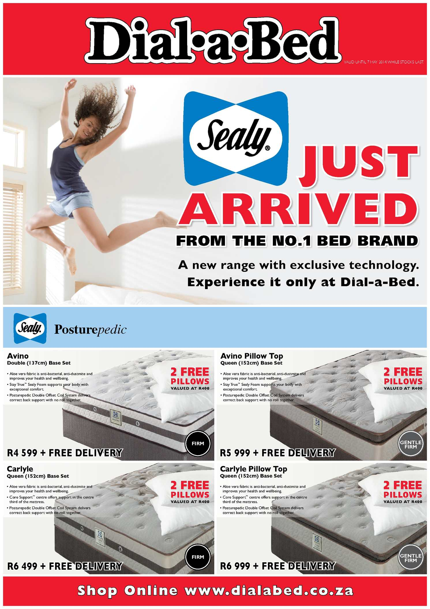 Calam 233 O The Brand New Sealy Bed Range