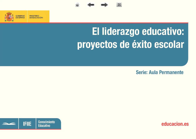 Calam o el liderazgo educativo proyectos de xito escolar for Proyecto educativo de comedor escolar