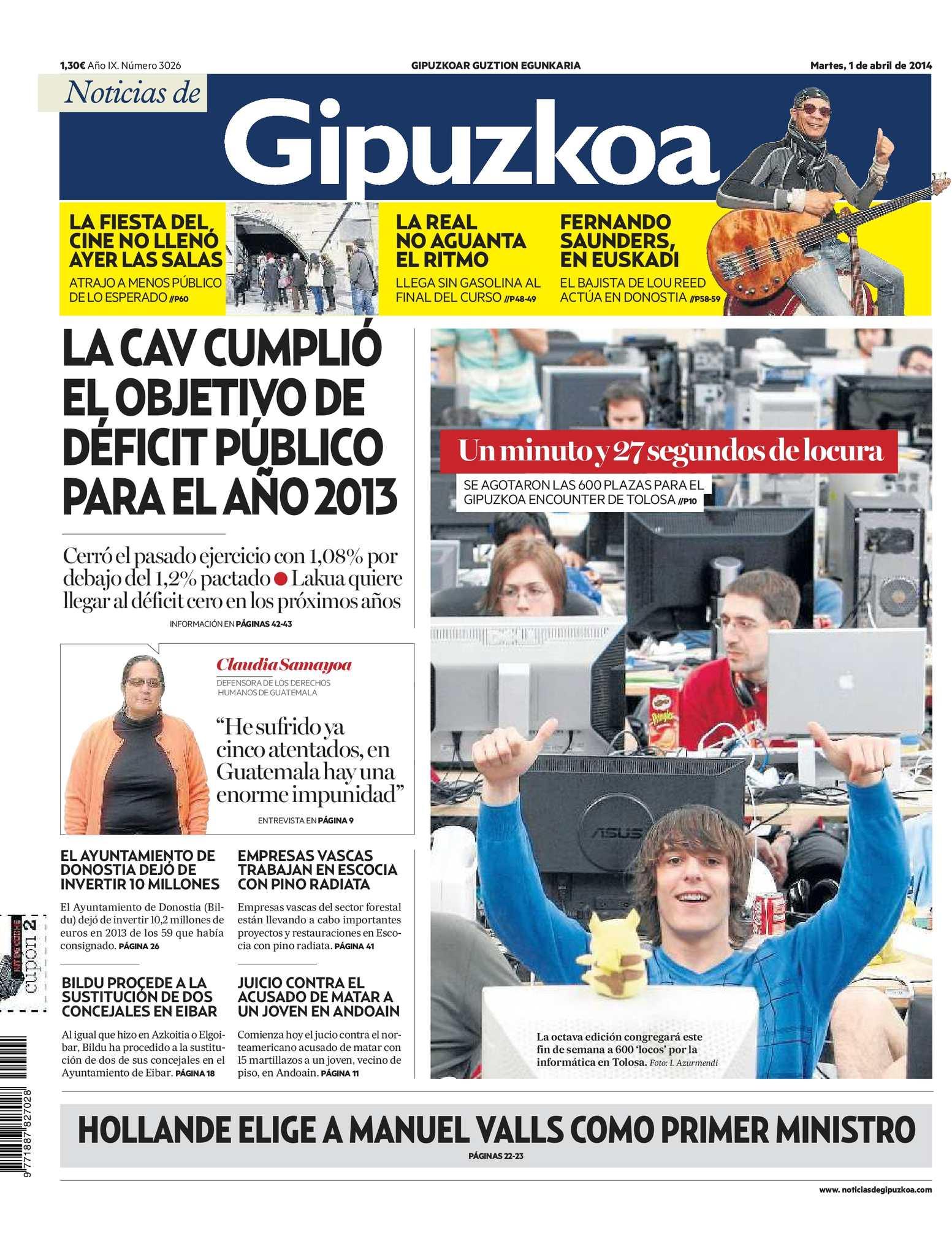 Calaméo - Noticias de Gipuzkoa 20140401