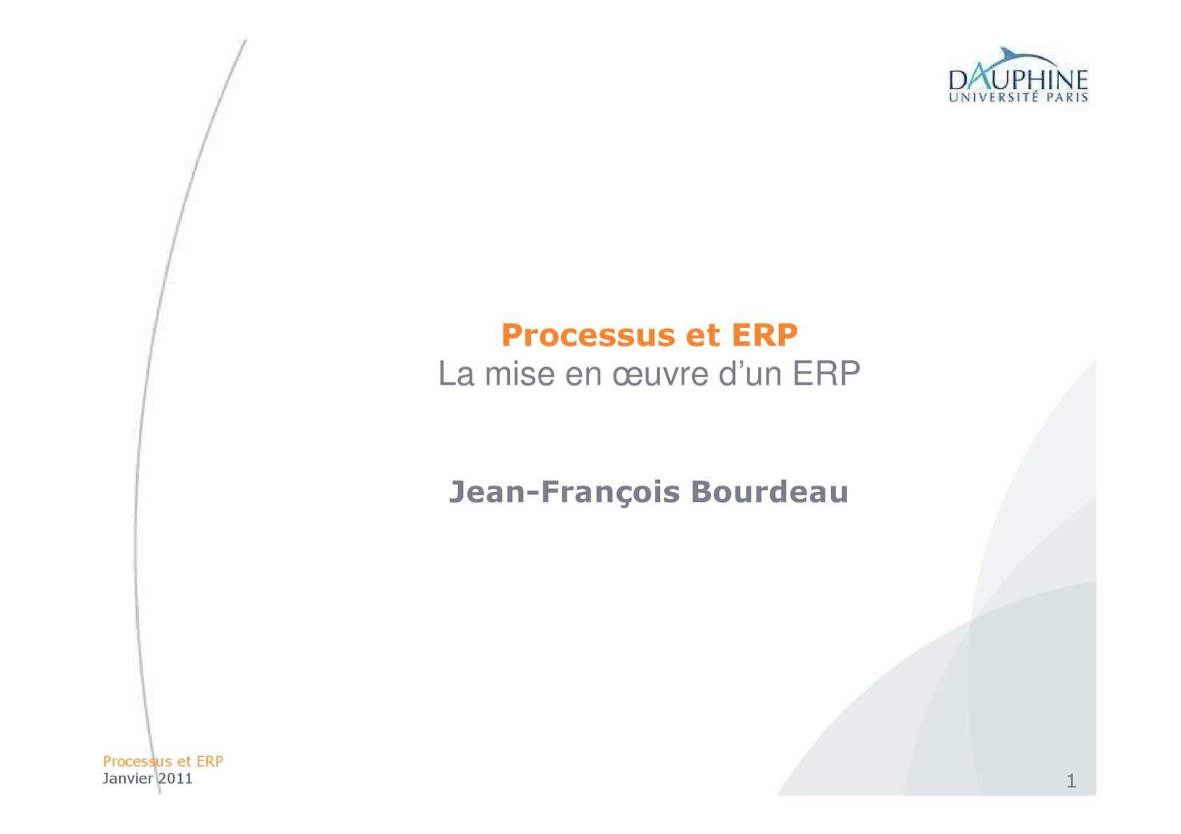 La Mise en oeuvre d'ERP