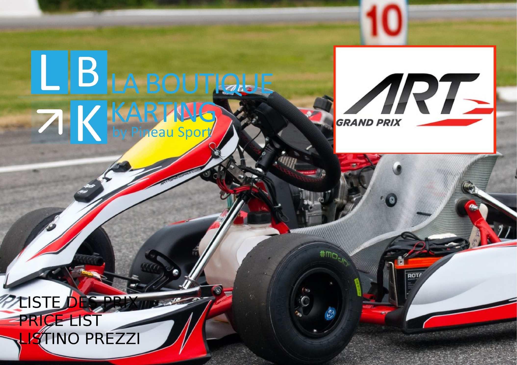 Calam o liste des prix art grand prix la boutique karting for Catalogo grand prix