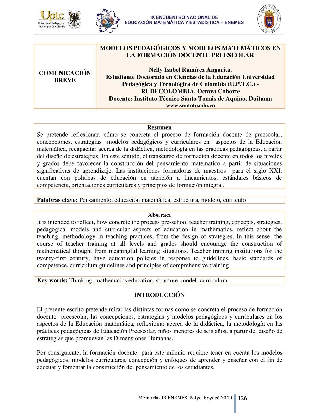 Calaméo - MODELOS PEDAGÓGICOS Y MODELOS MATEMÁTICOS EN LA FORMACIÓN ...