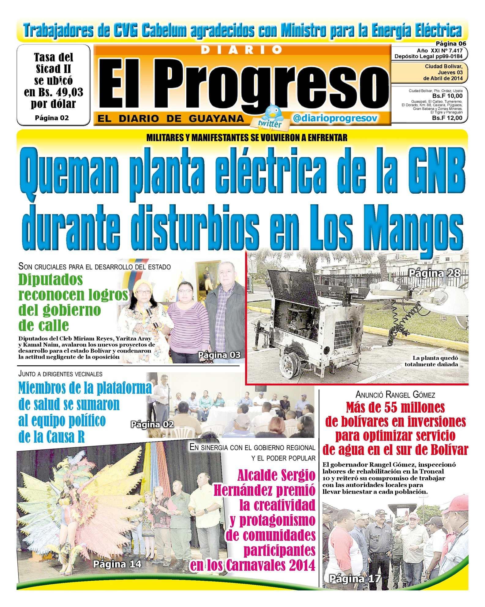Calaméo - DIARIO EL PROGRESO EDICIÓN DIGITAL 03-04-2014