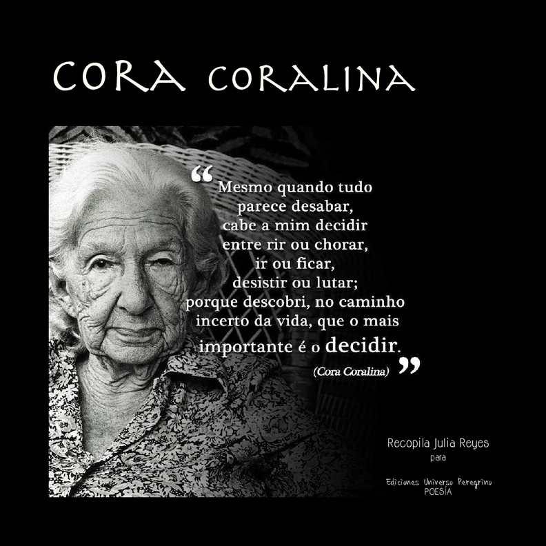 Calaméo - Cora Coralina - Poeta brasilera
