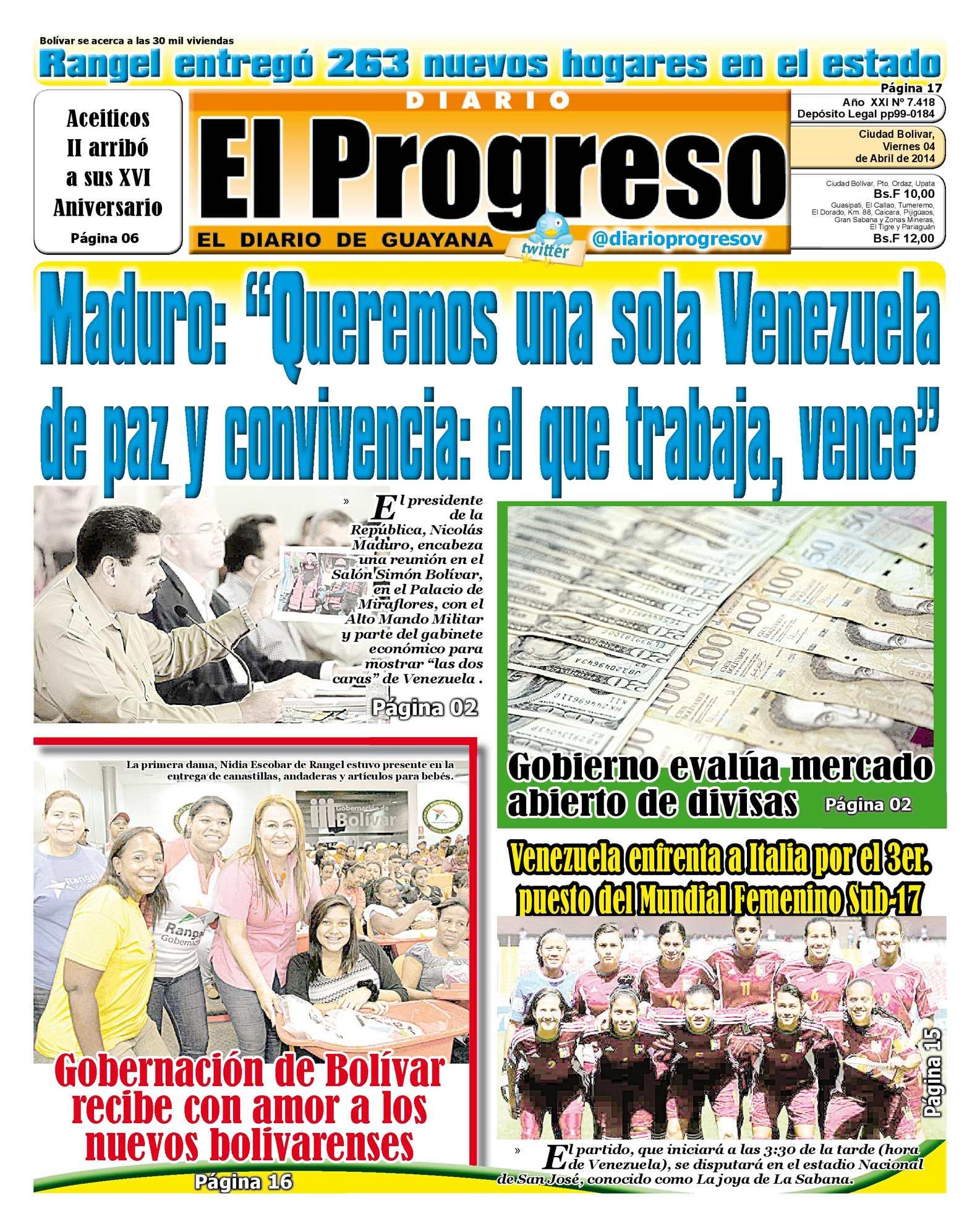 Calaméo - DIARIO EL PROGRESO EDICIÓN DIGITAL 04-04-2014