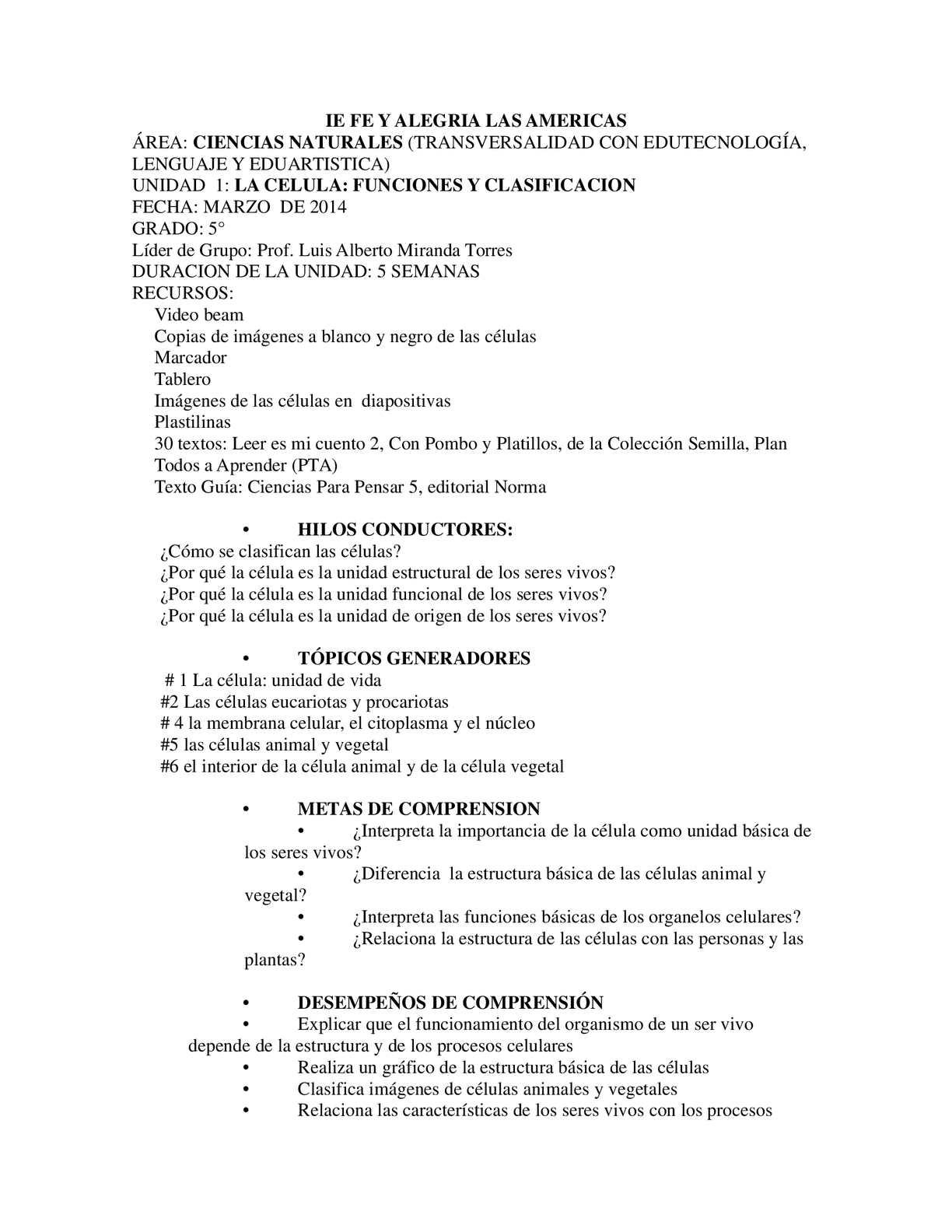 Calameo Ejemplo Para Planear Una Clase Con La Estrategia Ensenanza