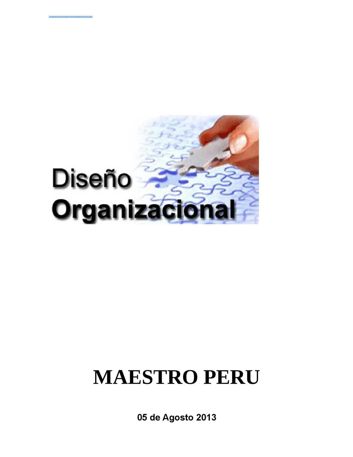 diseño organizacional MAESTRO 2013