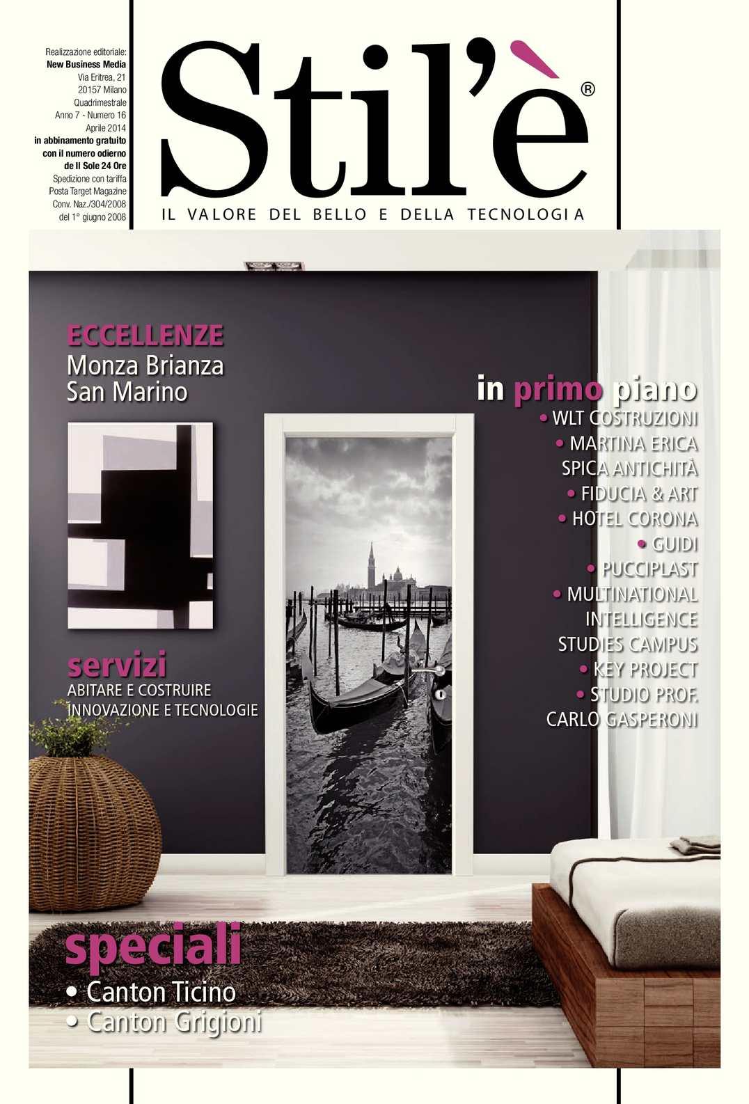 Ceramiche Civita Castellana Erica.Calameo Stil E Magazine Aprile 2014